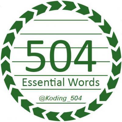 کانال کدینگ 504 واژه و تافل