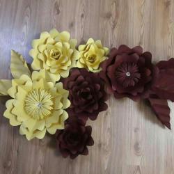 کانال گلهای مقوایی دکوراتو