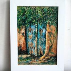 کانال گالری نقاشی فیروزه آبی