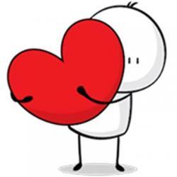 استیکر قلب قرمز
