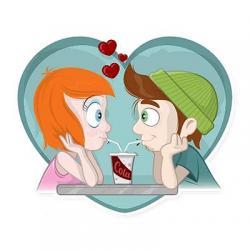 استیکر عاشقانه ها