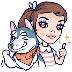 استیکر جسی و سگ