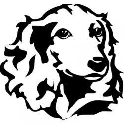 استیکر سگ سیاه سفید
